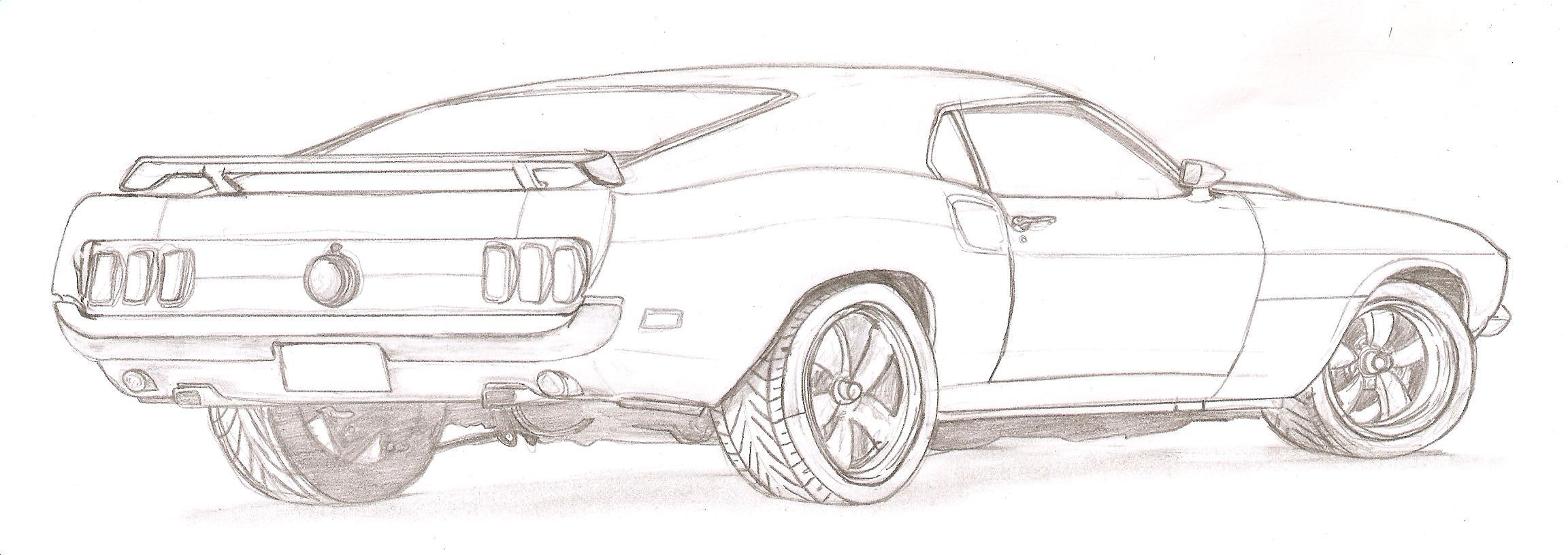 free coloring pages of 1969 ford mustang