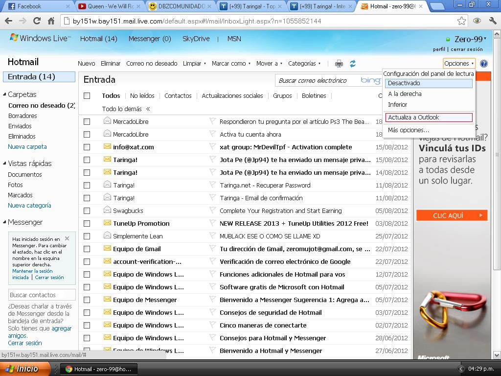 how to change outlook to hotmail