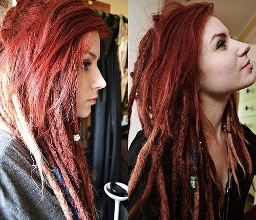 Red And White Hair Tumblr