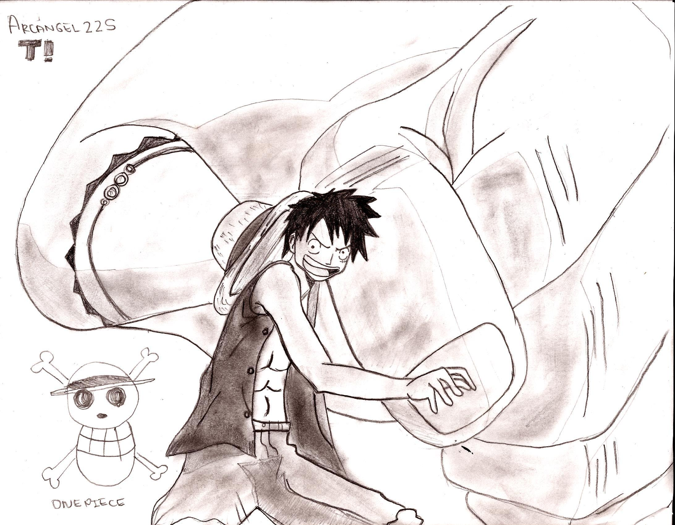 Dibujos de luffy one piece