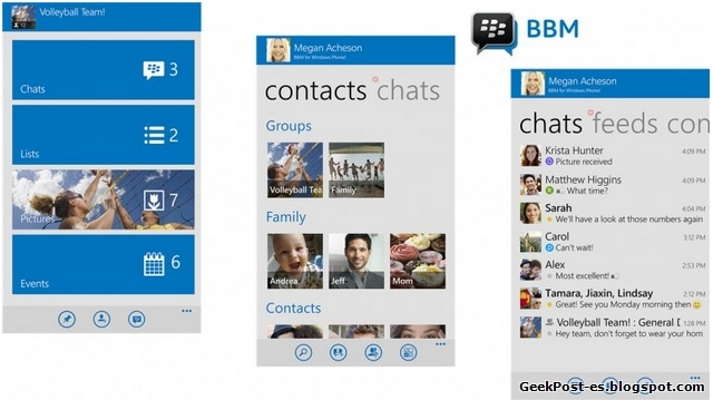 BMM para Windows Phone