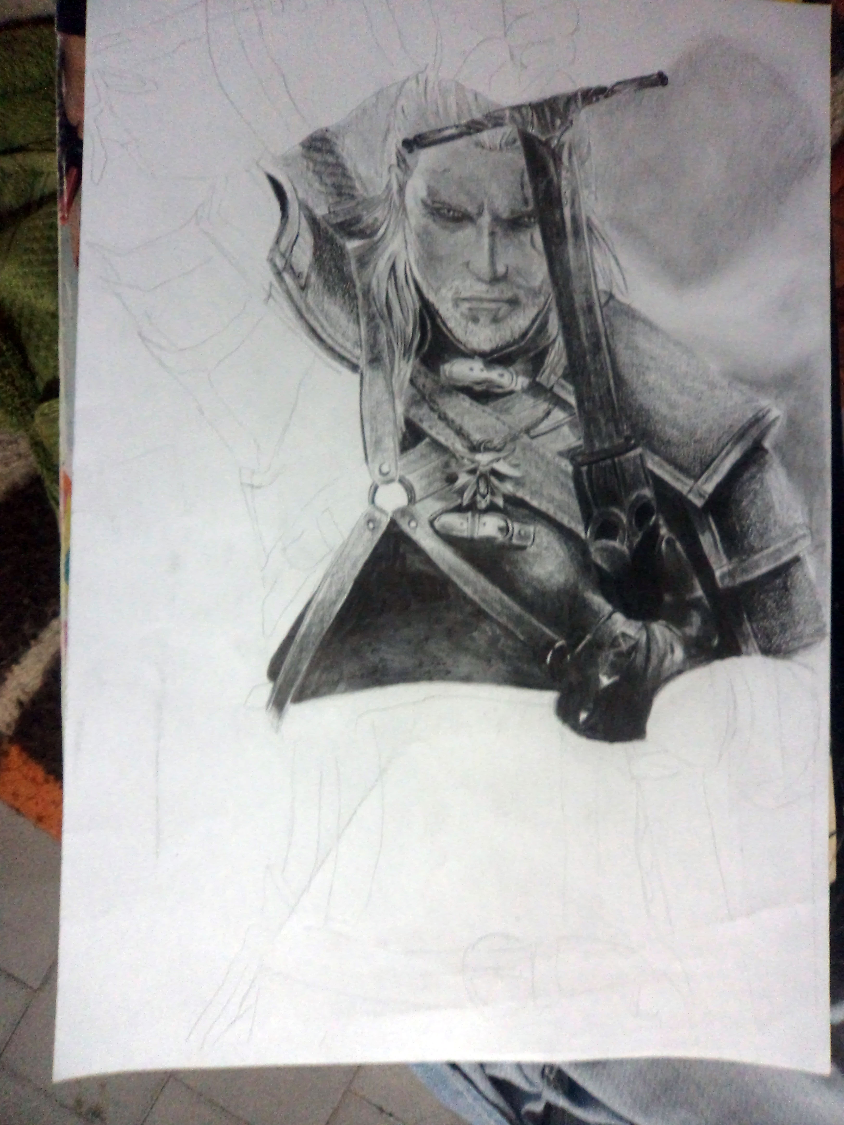 Mi dibujo de The Witcher 3